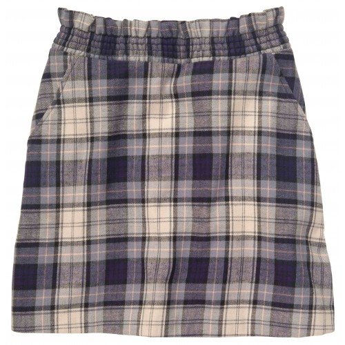 Stewart Skirt: Hewitt Grey Plaid